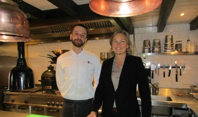 • Chef-kok Karol Andracki en baronesNathalie van Verschuer-des Tombe.
