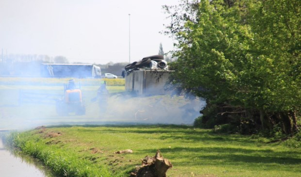 • De brand zorgt voor veel rookontwikkeling.