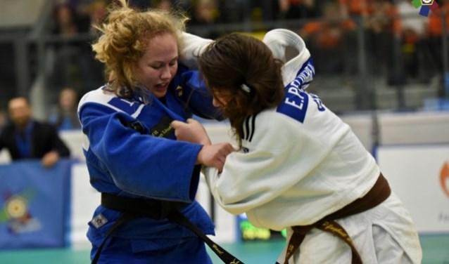 • Yael in actie tijdens de Cadet European Judo Cup.
