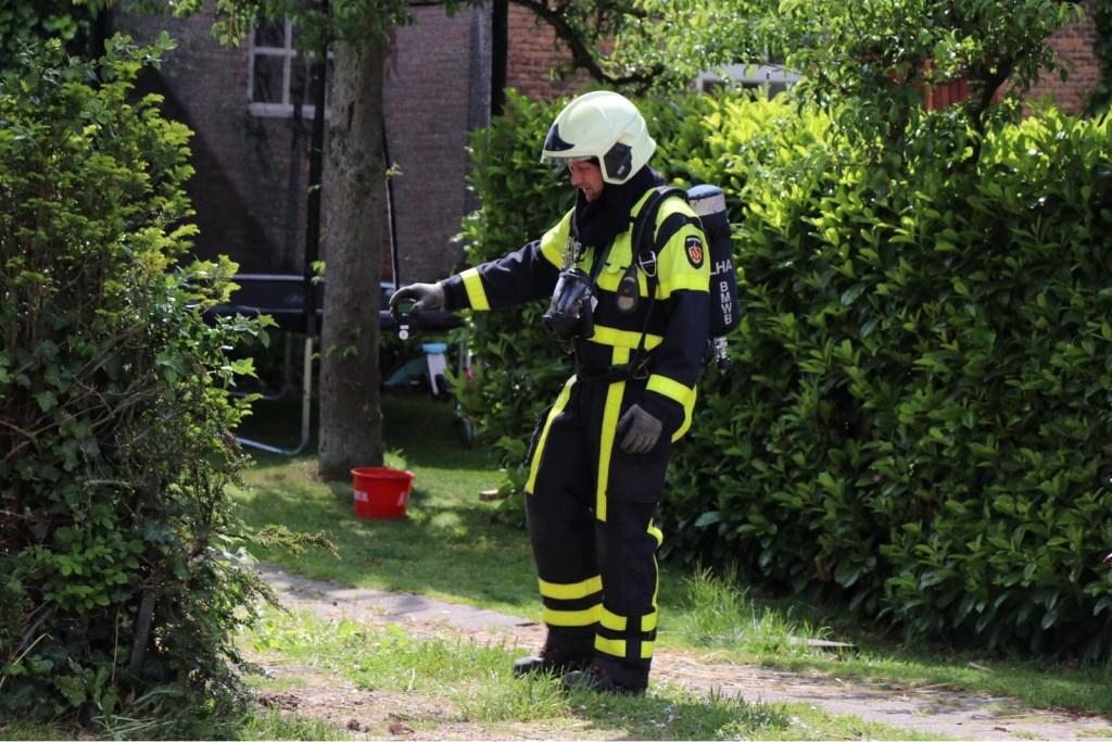 • Het lek ontstond tijdens werkzaamheden met een grondboor. Foto: Jürgen Versteeg © Heusden en Altena