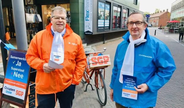 • Hubert Kats van de CU en Arjan Voorwinden van de SGP.