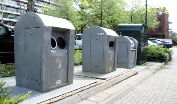 • Afvalcontainers in Krimpen aan den IJssel.