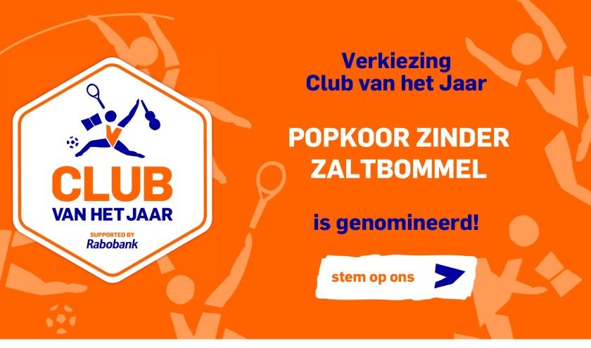 • Popkoor Zinder is genomineerd als Club van het Jaar.