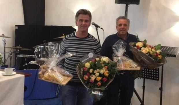 Nico Vink en Zeger van der Stelt namen afscheid van de dorpsraad.