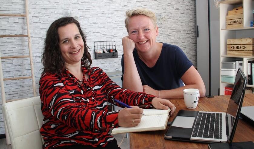 • Esther Jeras (links) en Ingeborg de Keizer.