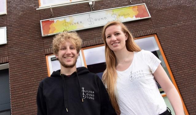 • Jitse Tilman en Mikky Zomerdijk voor hun Silver Sound Studio.