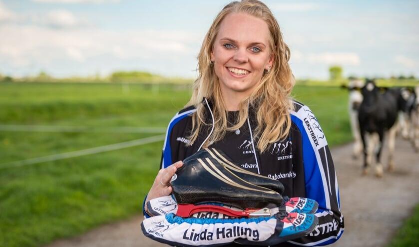 • Schaatster Linda Halling uit Gouderak.