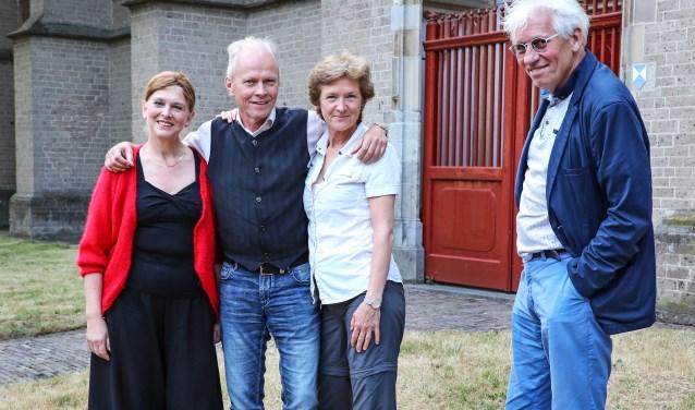 • Vlnr. Paulette Willemse, Thom Ummels, Irene Maessen en Hans de Wit.