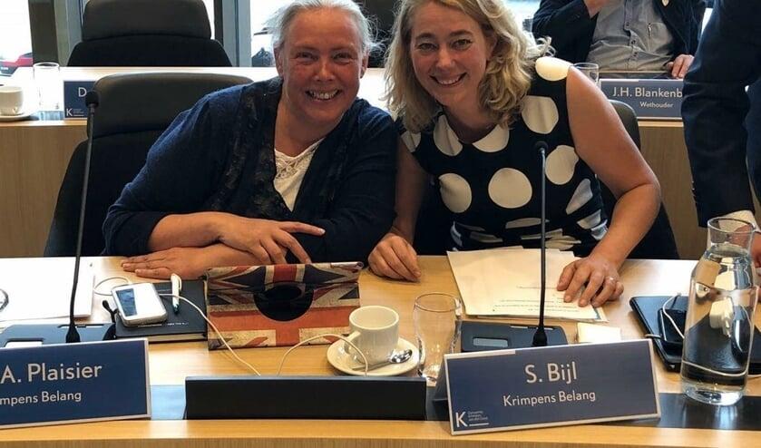 • Raadsleden Sethi Plaisir en Saskia Bijl van Krimpens Belang.