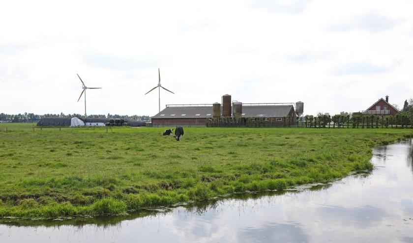 • De windturbines op het perceel Graafland 68 in Groot-Ammers.