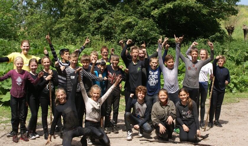 Groep 8 van De Rietput ging voor het eindfeest naar De Biesbosch.