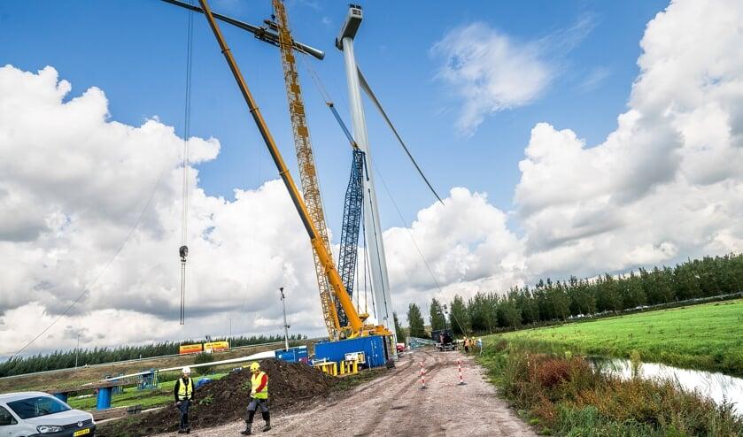 • De bouw van Windpark Autena in 2017.