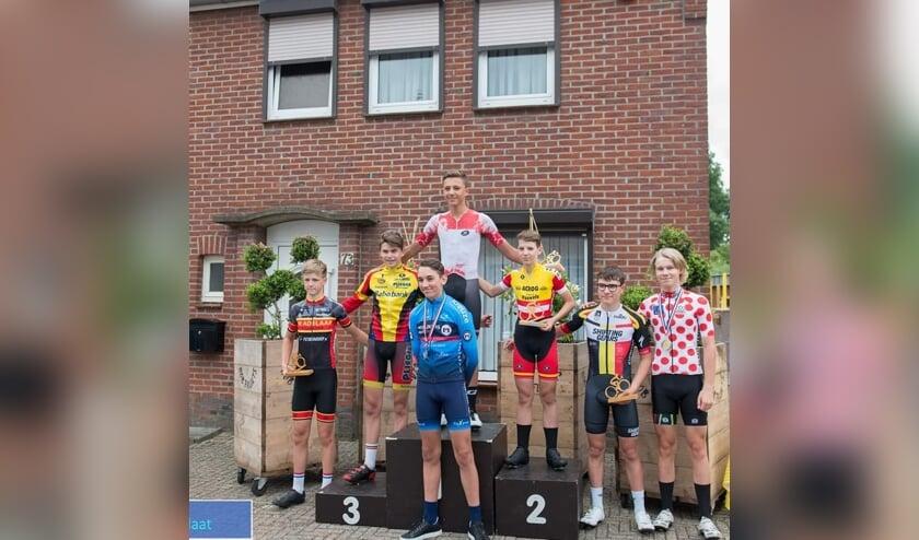• Christiaan van Rees op het podium in Bocholtz.