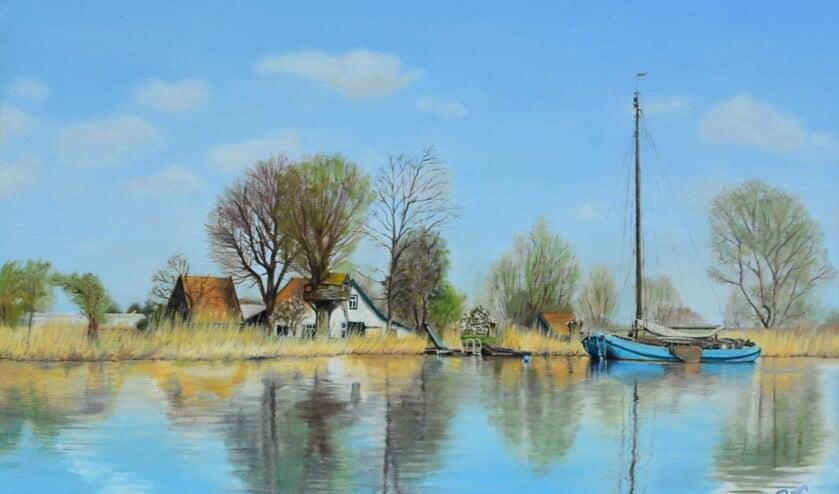 'Blauwe boot', werk van Kim Renders.