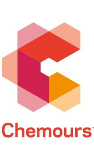 • Het logo van Chemours.