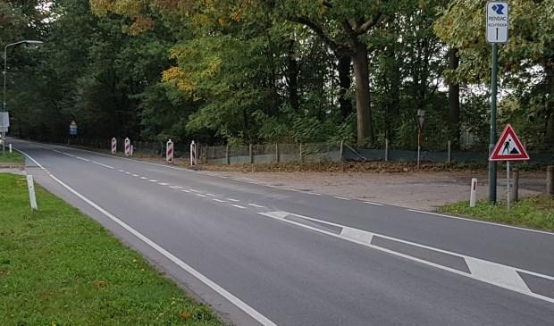 De huidige oversteek bij het Dutmellapad aan de N620  | Fotonummer: 098f6c