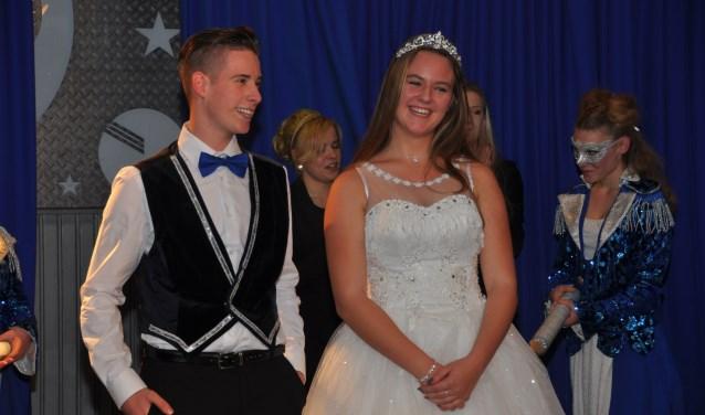Jeugdprins Jaimy Speetjens en Jeugdprinses Britt Prinsen van cv de  Dommelsoppers  | Fotonummer: d57662