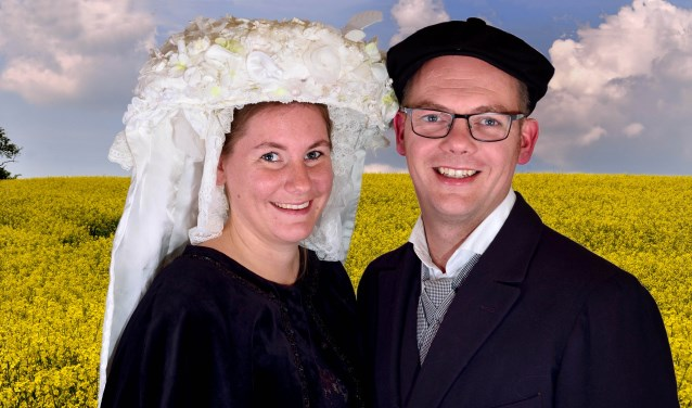 Het boerenbruidspaar van 2019 Anouk Kuijpers en Robin Jansen   | Fotonummer: ef6779