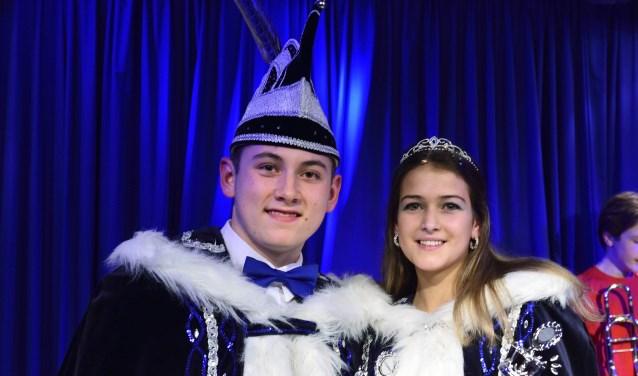 Jeugdprins Calvin en Jeugdprinses Rachelle    | Fotonummer: 5ca44a