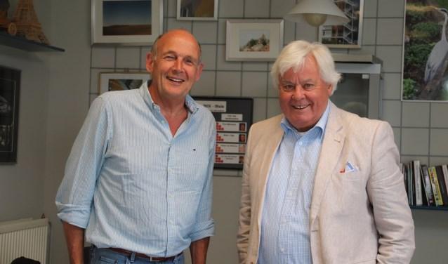 Frits Helders (links) en Frits van Stralen  | Fotonummer: 8cc222