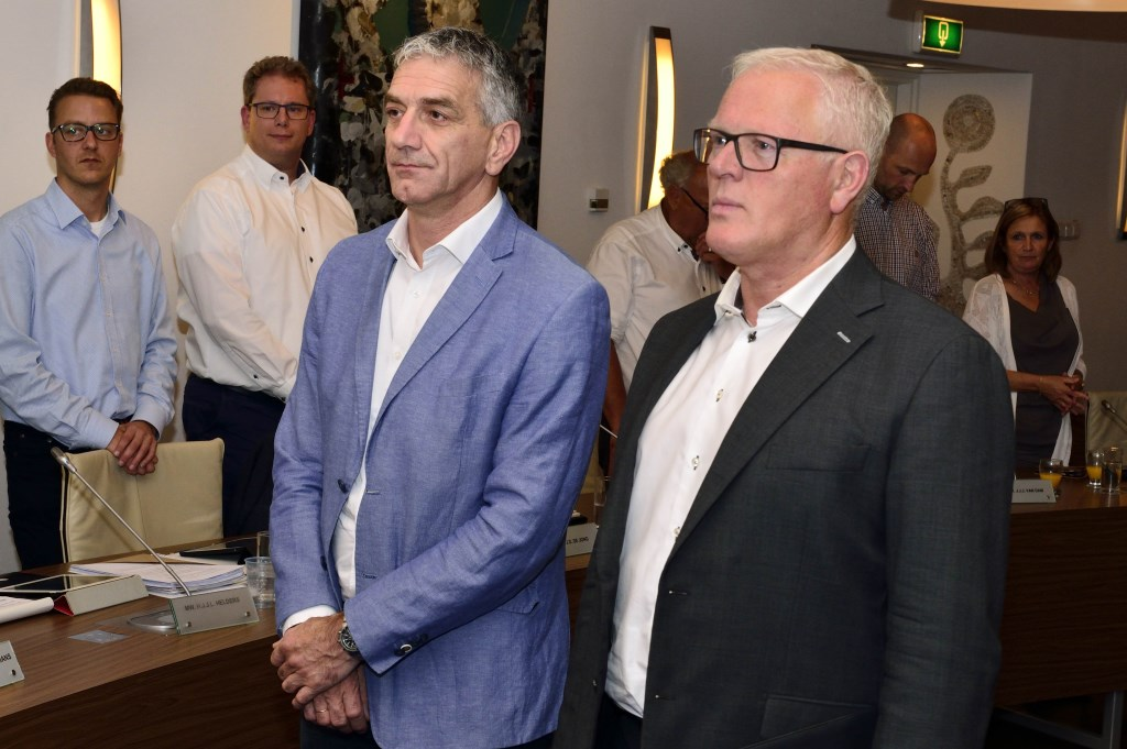 De nieuwe  raadsleden Henk Hulsen (CDA) en Jos de Bruin (DorpsVisie). Foto: Wil Feijen © DeMooiSonenBreugelKrant