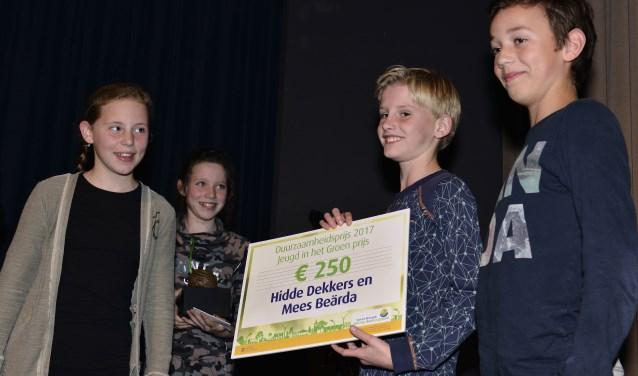 Hidde Dekkers en Mees Beärda ontvingen Jeugdprijs in 2017  | Fotonummer: 615d6f