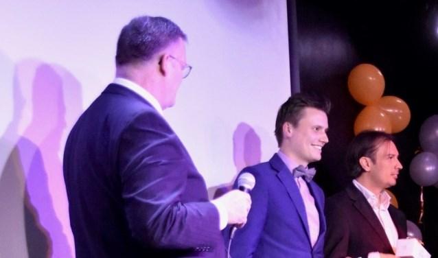 Luc Ross (midden) tijdens het SBC gala  | Fotonummer: 8740dd