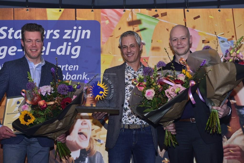 De genomineerden Son en Breugel: V.l.n.r.: Duncan, Koen en Eric  Foto: Wil Feijen © DeMooiSonenBreugelKrant