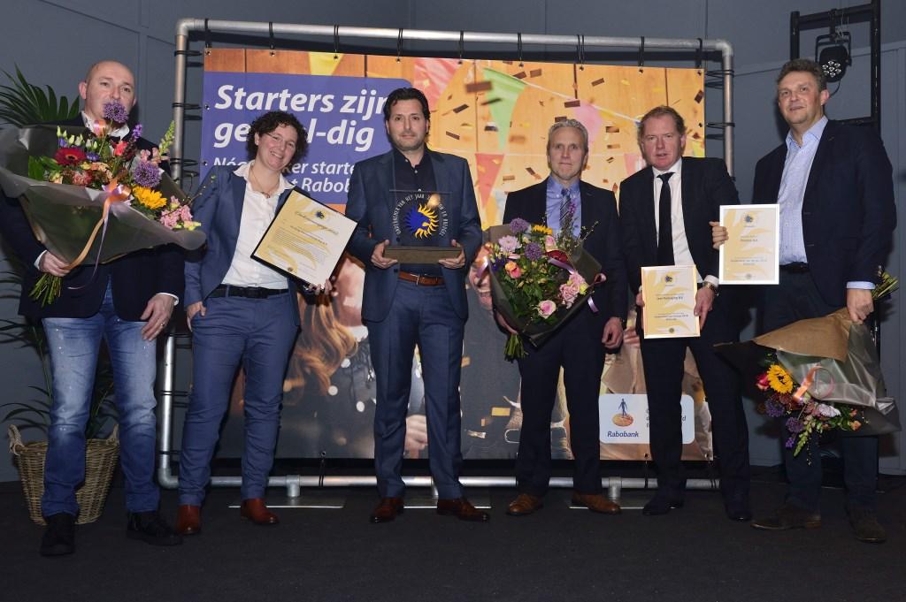 Ondernemersverkiezing 2018, Joop, Rianne en Henri Kastelijn (l), Martijn Seerden en Peter Jacobs (m) e Alexander Aelberts (r) Foto: Wil Feijen © DeMooiSonenBreugelKrant