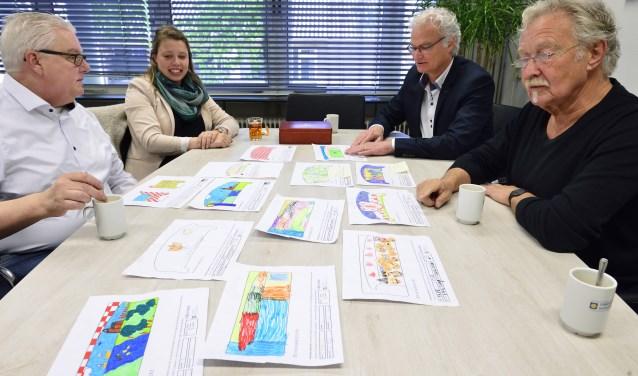 V.l.n.r. Martin van de Bunt, Michelle Driessen, John Frenken en Willem Berkers   | Fotonummer: ba3269