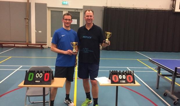 Paul van Amstel en Berthold van Veen wonnen het eindejaarstoernooi van Reflex. Foto: Reflex