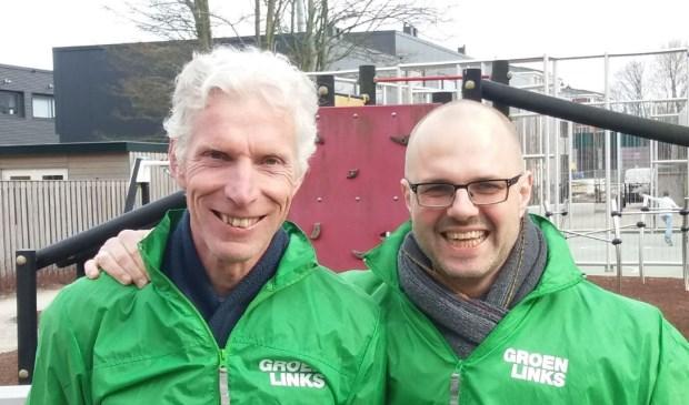 Albert Deuzeman en Joop Bos van GroenLinks. Foto: GL