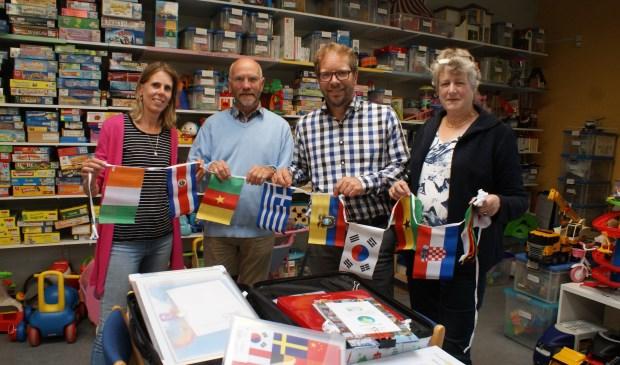 Vlnr José Versluis, Harm Klifman, Johan van Egmond en Adri Brands. Foto: VSK