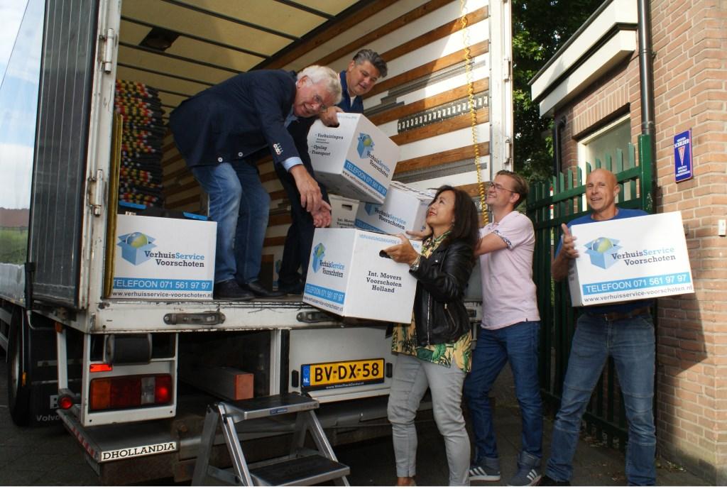 vlnr Vader Co en zoon Wilbur Zitman, Bas Waanders, Tinus van der Santen en Laura Zitman. Foto: VSK