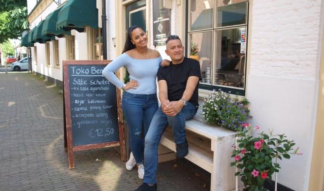 Nadia en Ben Kúhr, bij Toko Benji in de Tramstraat 5 in Voorschoten, vader en dochter delen de passie voor lekker eten