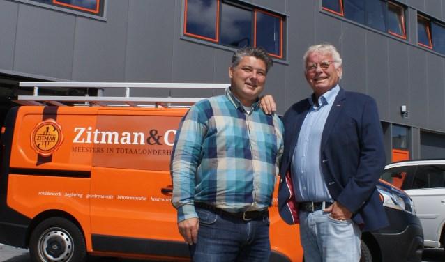'Het bedrijf is in goede handen bij Wilbur', zegt vader Co Zitman (r). 'Een volle portefeuille en een goed team. Ik heb alle vertrouwen in de toekomst.' Foto: VSK