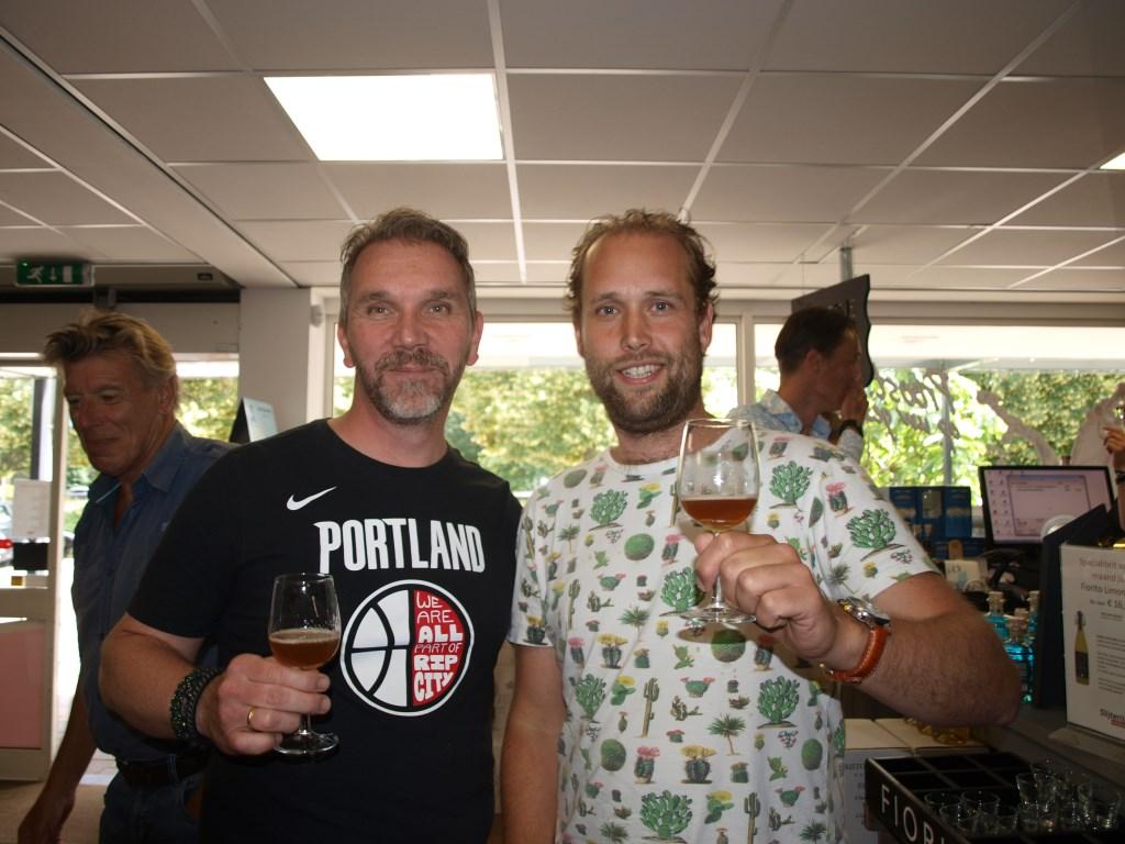 De twee Voorschotense Bierbrouwers l.Antonio Cavé  r.Sander Rooijakkers   © VSK