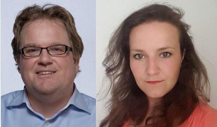 Hugo Nordkamp en Donandra van Beek, burgerraadsleden Voorschoten Lokaal