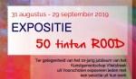 Jubileumexpositie Vlietstreek '50 TINTEN ROOD'