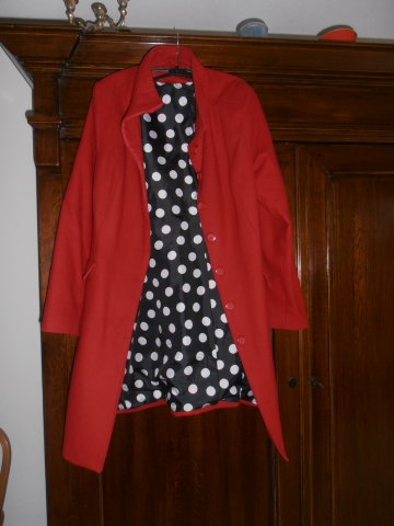 Onwijs Rode damesjas, maat 46- marktplein PL-01