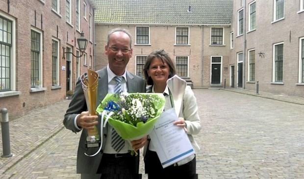 De trotse eigenaren Ron en Clazien van Kan van Stomerij Van Kan.