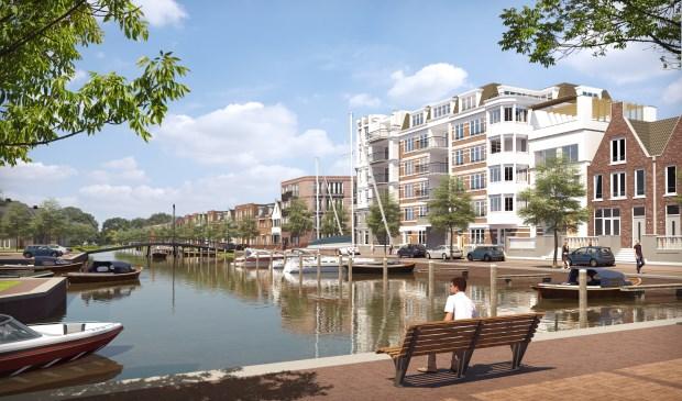 Impressie van de Plaspoelkade aan de nieuw aan te leggen haven (foto: BPD).