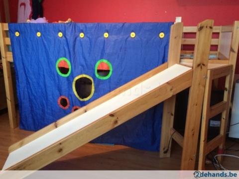 Fonkelnieuw Ikea halfhoogslaper mét glijbaantje- marktplein | HetKrantje-Online.nl UK-16