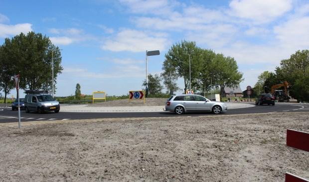 De nieuwe rotonde Meerlaan / N206 (foto: Dick Janssen).
