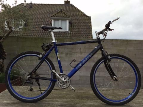 Fonkelnieuw Mountainbike Kenosha zwart-blauw- marktplein RE-15