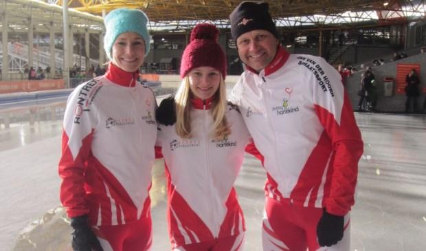 Elke week schaatsen Tessa, Floor en Anco ter voorbereiding op de Uithof ter voorbereiding (foto: PR).