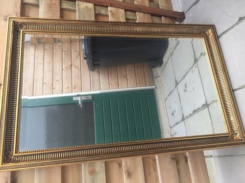 Facet Geslepen Spiegel : Facet geslepen mooie spiegel met houten lijst marktplein