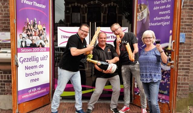 Oscar van Schijndel, Alfred van Kesteren en Ingrid Blom van De Heerlijkheid en Peter Verbeek van Gall&Gall Verbeek zijn er klaar voor (foto: pr).