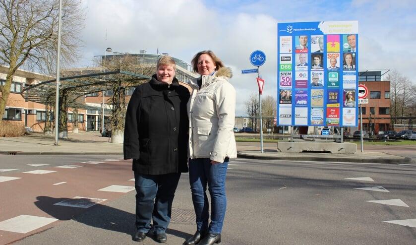 ElsbetVink en Jolanda Groenewegen vormen tezamen met bijna tweehonderd medewerkers vandaag het kloppend hart van de democratie. (foto: Martijn Mastenbroek)