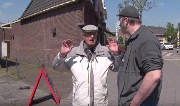Ton vertelde veel mooie verhalen aan Erik Bevaart. Cineast Wim Meijer filmde de reis door Pijnacker, Oude Leede en Delfgauw.
